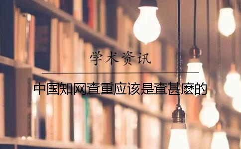 中国知网查重应该是查甚麽的